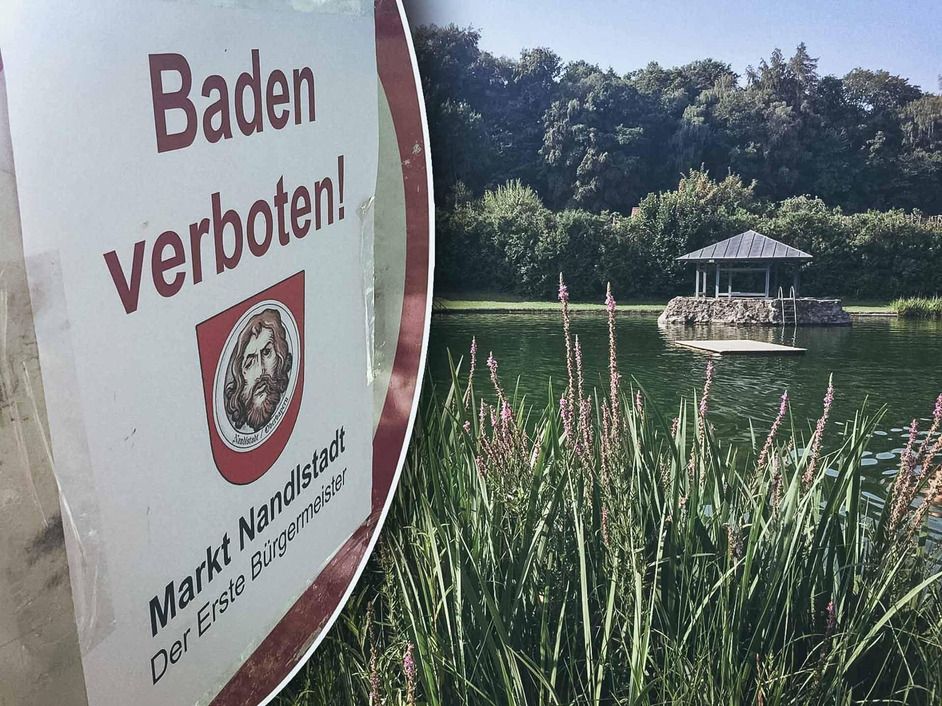 Waldbad Nandlstadt Badeverbot